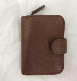 OSGOODE MARLEY RFID KEY HOLDER W/ZIP POCKET BRANDY