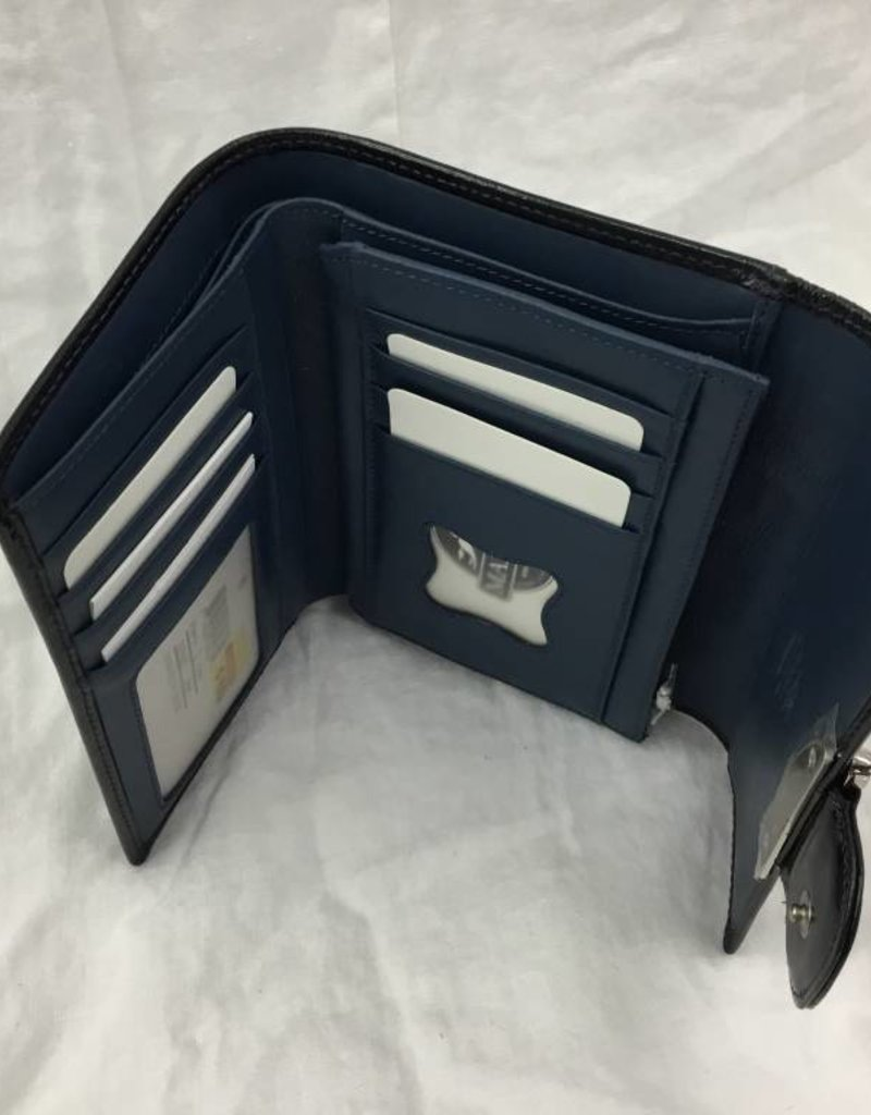 MANCINI LEATHER 2275050 BLUE LADIES LEATHER WALLET