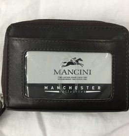 MANCINI LEATHER 2010115 RFID ACCORDIAN BROWN # MANCINI