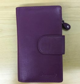 SGI LEATHERGOODS 786/1 RFID LEATHER WALLET PINK