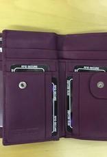 SGI LEATHERGOODS 786/1 RFID LEATHER WALLET PINK