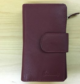 SGI LEATHERGOODS 786/1 RFID LEATHER WALLET  RED