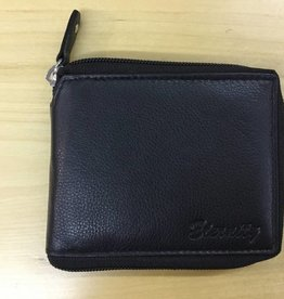 SGI LEATHERGOODS 609 BLACK RFID ZIP MENS WALLET