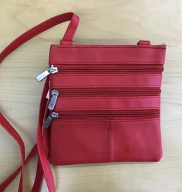 SGI LEATHERGOODS 307 BURGUNDY LEATHER SHOULDER BAG