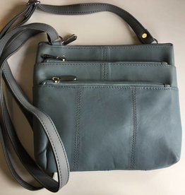 SGI LEATHERGOODS 308 BABY BLUE SHOULDER BAG