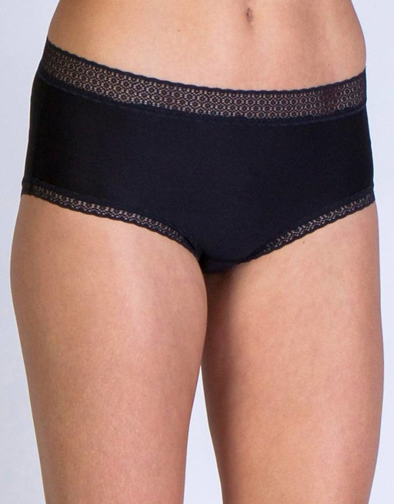 EXOFFICIO 22412195 XS BLACK WOMENS GIVE N GO LACY FULL CUT BRIEF