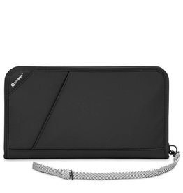 PACSAFE RFIDSAFE  ANTI-THEFT RFID BLOCKING TRAVEL ORGANISER V200 BLACK