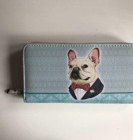 DOG ZIPPERED WALLET