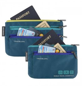 TRAVELON 43370 WORLD TRAVEL ESSENTIALS SET OF 2 CURRENCY & PASSPORT ORGANIZERS