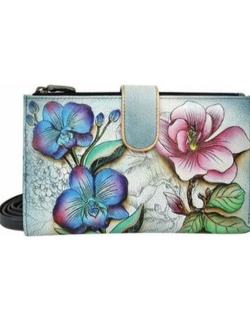 ANUSCHKA 1113 FFY CELL PHONE AND CARD CASE FLORAL FANTASY
