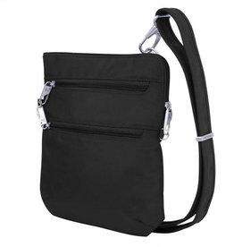 TRAVELON ANTI THEFT CLASSIC SLIM DOUBLE ZIP CROSSBODY