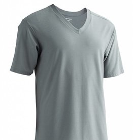 EXOFFICIO SMALL CHARCOAL V NECK TEE