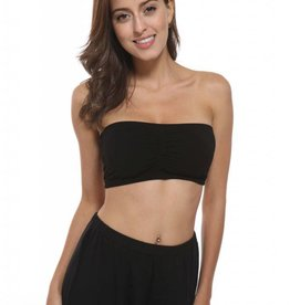FASHION VILLAGE LTD BAMBOO BANDEAU BLACK LARGE/EXTRA LARGE