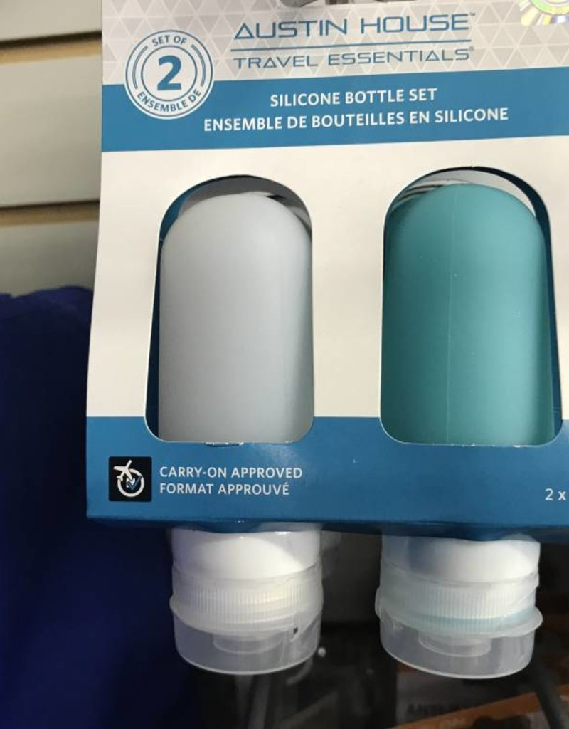 AUSTIN HOUSE  2X TSA SILICONE GEL BOTTLES AH33GB91