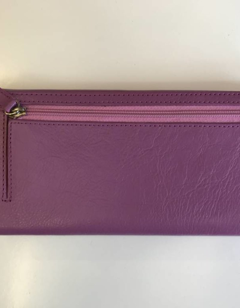 MANCINI LEATHER 52296 ORCHID LADIES LEATHER WALLET RFID