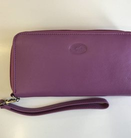 MANCINI LEATHER PURPLE LADIES LEATHER WALLET RFID