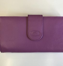 MANCINI LEATHER RADIANT ORCHID LADIES LEATHER WALLET RFID