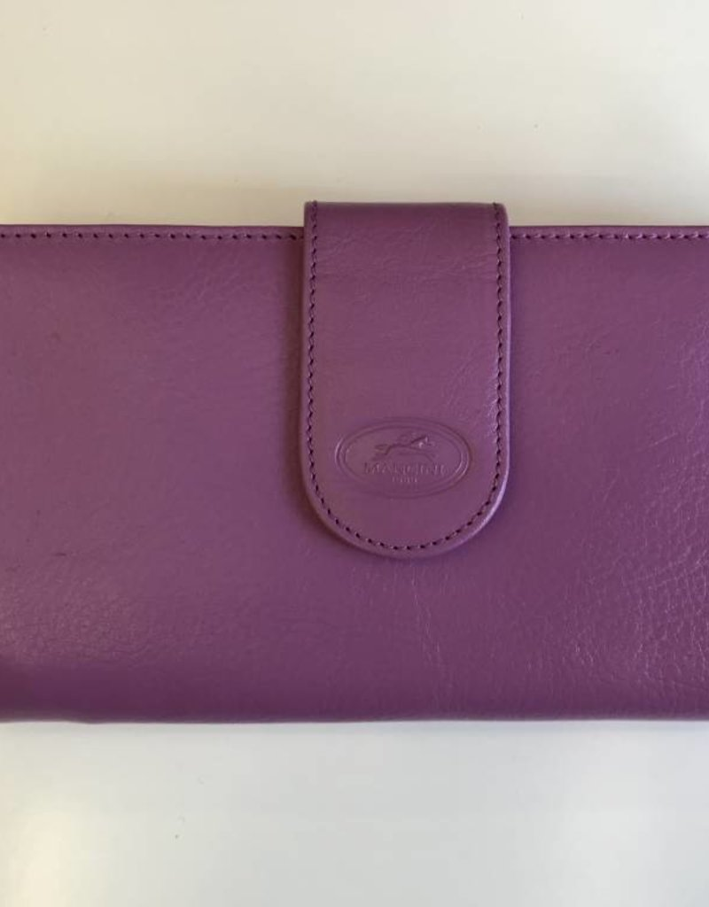 MANCINI LEATHER 52948 RADIANT ORCHID LADIES LEATHER WALLET RFID