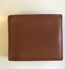 MANCINI LEATHER RFID COGNAC MENS LEATHER WALLET