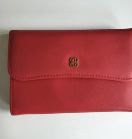 BOSCA RED NAPLES ITALIAN LEATHER WALLET