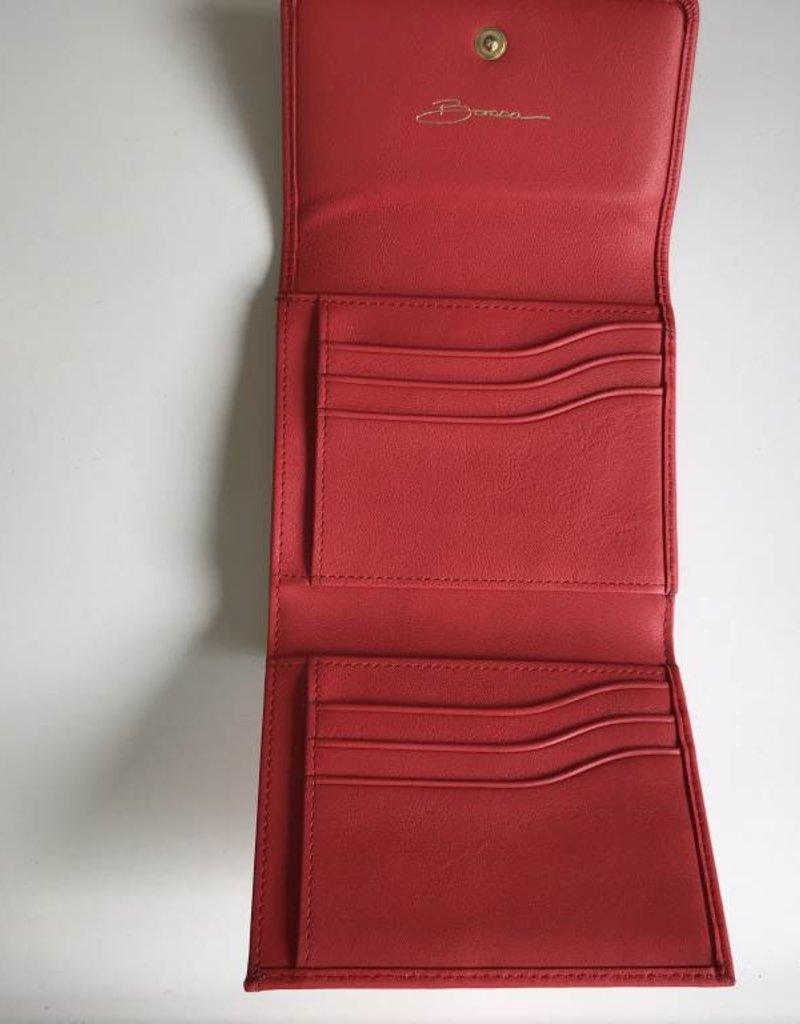 BOSCA 1190110 RED BOSCA TRIFOLD ITALIAN LEATHER