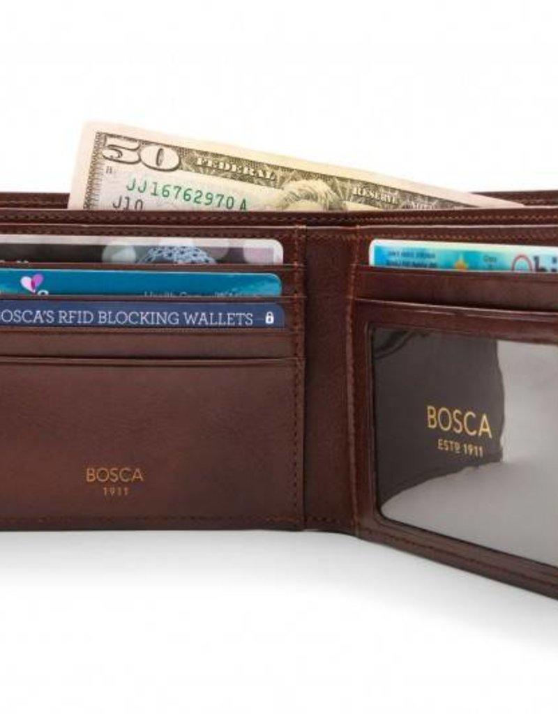BOSCA 95218 DARK BROWN RFID EXECUTIVE