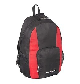 SWISS GEAR SWT0407  BLACK FOLDABLE BACKPACK