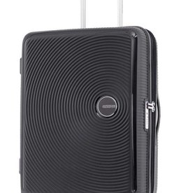 AMERICAN TOURISTER BLACK LARGE SPINNER  CURIO