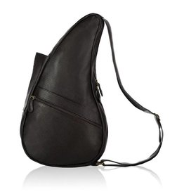 AMERIBAG BLACK SMALL LEATHER HEALTHY BACK BAG