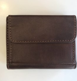 TREND SMALL WALLET WITH CHANGE BROWN RFID 917258 THE TREND