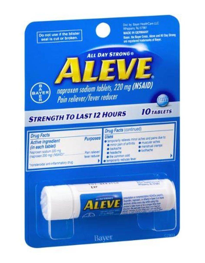 ALEVE TRAVEL 10 PK 220mg