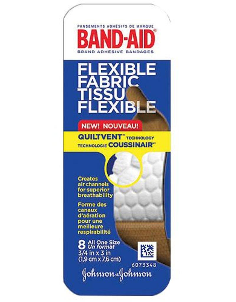 BAND-AID FLEX FABRIC TRAVEL PACK 8PK