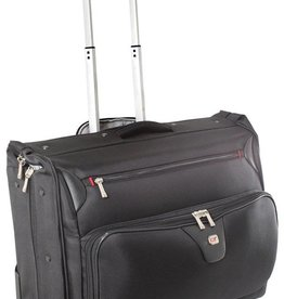 GINO FERRARI MANHATTEN WHEELED GARMENT BAG BLACK