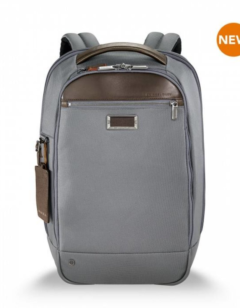BRIGGS & RILEY KP420-10 GREY SLIM BACKPACK