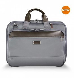 BRIGGS & RILEY KB425X-10 GREY MEDIUM EXP BRIEF