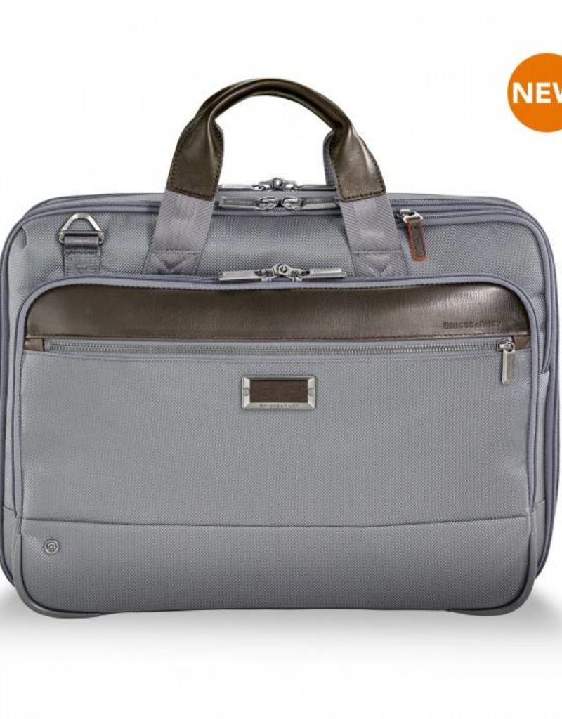 BRIGGS & RILEY KB425X-10 #GREY MEDIUM EXP BRIEF