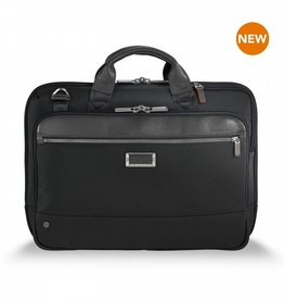 BRIGGS & RILEY KB420-4 BLACK SLIM BRIEF