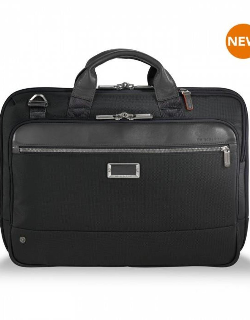 d33205c593b0 KB420-4 BLACK SLIM BRIEF - Capital City Luggage