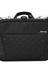 TRAVELON 42741 BLACK QUILTED TOILETRY BAG
