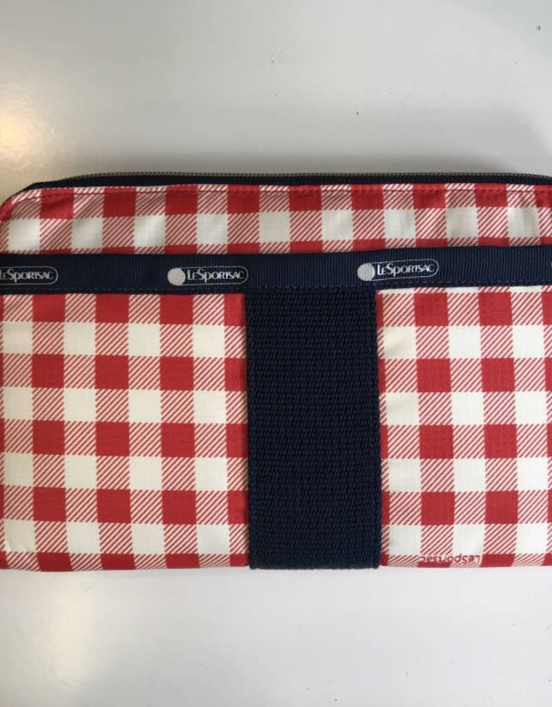 LESPORTSAC 2256 P773 EVERYDAY WALLET GINGHAM CLASSIC RED