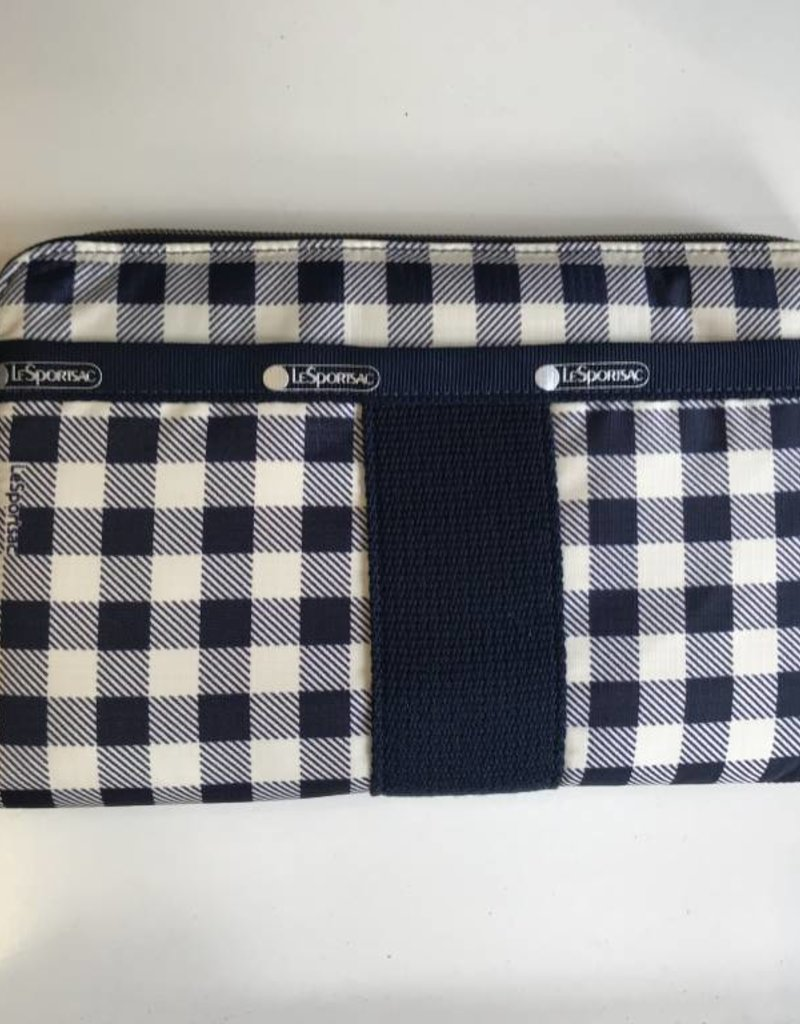 LESPORTSAC 2256 EVERYDAY WALLET GINGHAM CLASSIC NAVY