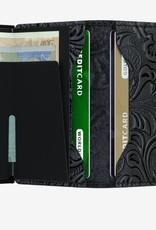 SECRID MINIWALLET RFID ORNAMENT BLACK