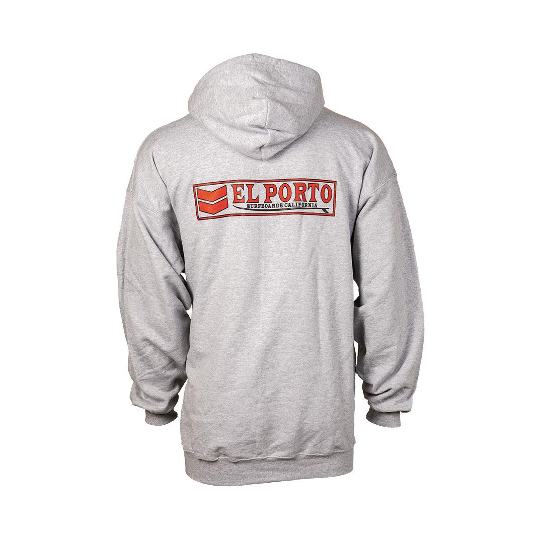 """El Porto Surfboards El Porto """"Classic Logo"""" Front Zip Hoodie"""