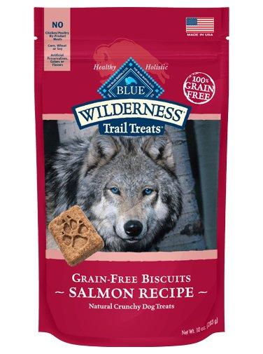 Blue Buffalo Blue Biscuit Wilderness Dog Treats Salmon Chicken 10oz