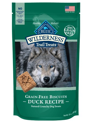 Blue Buffalo Blue Wilderness Biscuit Dog Treat Duck Chicken 10oz