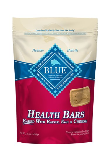 Blue Buffalo Blue Biscuit Dog Treats Bacon Egg Cheese 16oz