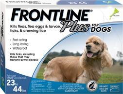 Frontline Frontline Plus Dog Blue 23-44 Lb. 3 Pack