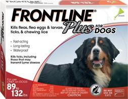 Frontline Frontline Plus Dog Red 89-132 Lb. 3 Pack