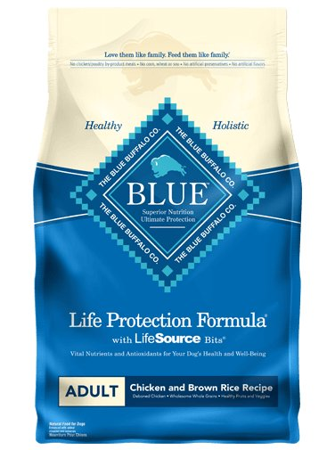 Blue Buffalo Blue Buffalo Chicken & Brown Rice Adult Dog Food 30 Lb (Blue)
