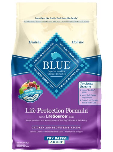 Blue Buffalo Blue Buffalo Toy Breed Life Protection Formula Chicken & Brown Rice Adult Dog Food 4 Lb.